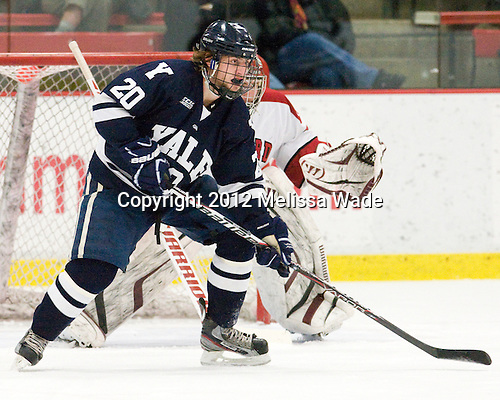 Jesse Root (Yale - 20) - The Harvard University Crimson defeated the visiting Yale University Bulldogs 8-2 in the third game of their ECAC Quarterfinal matchup on Sunday, March 11, 2012, at Bright Hockey Center in Cambridge, Massachusetts.