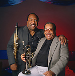 Nat Adderly and Nathan Davis, Jan 1990 : Portrait of Nat Adderly and Nathan Davis at Blue Note Tokyo Jazz Club, Tokyo, Japan.
