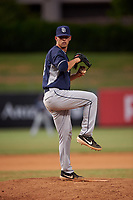 Relief pitcher Andrew Dean (24), of the AZL Padres 1, during an Arizona League game against the AZL Angels on August 5, 2019 at Tempe Diablo Stadium in Tempe, Arizona. AZL Padres 1 defeated the AZL Angels 5-0. (Zachary Lucy/Four Seam Images)