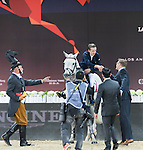 Longines Grand Prix during the Longines Masters of Hong Kong on 21February 2016 at the Asia World Expo in Hong Kong, China. Photo by Moses Ng / Power Sport Images