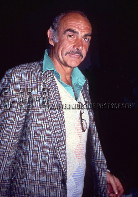 Sean Connery in Los Angeles, California. September 1982