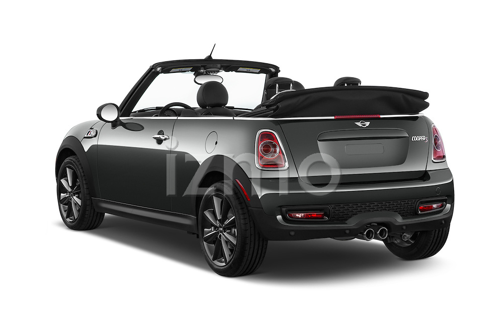 Car pictures of rear three quarter view of a 2015 MINI Mini Cooper S 2 Door Convertible Angular Rear