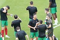 Cristiano Ronaldo (Portugal) gut gelaunt trotz Pfeiffkonzert<br /> - Muenchen 19.06.2021: Deutschland vs. Portugal, Allianz Arena Muenchen, Euro2020, emonline, emspor, <br /> <br /> Foto: Marc Schueler/Sportpics.de<br /> Nur für journalistische Zwecke. Only for editorial use. (DFL/DFB REGULATIONS PROHIBIT ANY USE OF PHOTOGRAPHS as IMAGE SEQUENCES and/or QUASI-VIDEO)