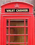 Gibson's Steakhouse Restaurant, British Telephone Booth, valet, cashier, Chicago, Illinois