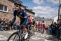 Aaron Gate (NZL/Aqua Blue Sport) leading the race up Côte de Saint-Roch in  Houffalize<br /> <br /> 103rd Liège-Bastogne-Liège 2017 (1.UWT)<br /> One Day Race: Liège › Ans (258km)