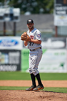 Tri-City ValleyCats relief pitcher Hunter Martin (37) gets ready to deliver a pitch during a game against the Batavia Muckdogs on July 16, 2017 at Dwyer Stadium in Batavia, New York.  Tri-City defeated Batavia 13-8.  (Mike Janes/Four Seam Images)