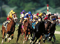Horse racing at Delaware Park. Stanton, Delaware.