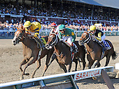 Backtalk, far left, wins the Sanford Stakes for 2-year olds.