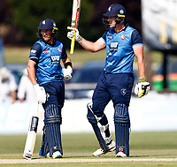George Munsey raises his bat after scoring fifty for Kent during Kent Spitfires vs Durham, Royal London One-Day Cup Cricket at The Spitfire Ground on 22nd July 2021