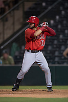 AZL Angels first baseman Brett Bond (10) at bat during an Arizona League game against the AZL Athletics at Tempe Diablo Stadium on June 26, 2018 in Tempe, Arizona. The AZL Athletics defeated the AZL Angels 7-1. (Zachary Lucy/Four Seam Images)