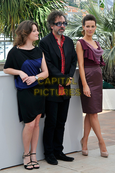 GIOVANNA MEZZOGIORNO, TIM BURTON, KATE BECKINSALE.attending the Jury Photocall at the Palais des Festivals during the 63rd Annual Cannes International Film Festival, Cannes, France, .12th May 2010. .full length red print shirt blue tinted glasses sunglasses beard facial hair suit pink purple aubergine maroon dress ruffle folded top skirt sleeveless patent beige nude platform shoes heels blue stripe sandals.CAP/PL.©Phil Loftus/Capital Pictures.