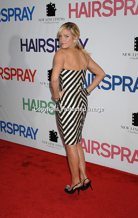"""Brittany Snow..arriving at the New York Premiere of """"Hairspray"""" on         July 16, 2007 at The Ziegfeld Theatre. ..Robin Platzer, Twin Images......212-935-0770"""