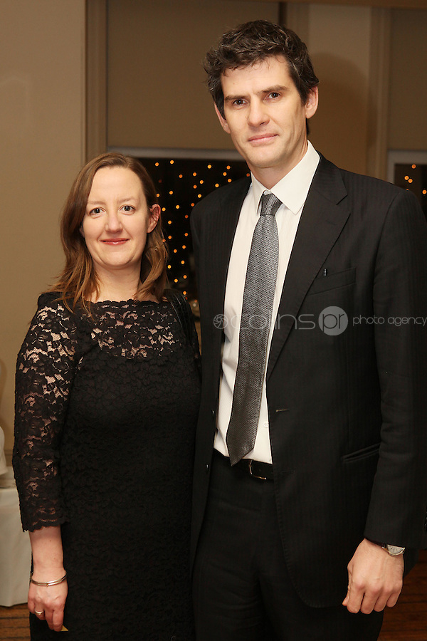 NO REPRO FEE. 23/11/2010. ICCL annual fundraising dinner. Pictured at Fallon and Byrnes, Dublin for the ICCL's fundraising dinner for legal practitioners were Elisabeth Donovan and Frank Turvey . Picture James Horan/Collins Photos