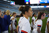JACKSONVILLE, FL - NOVEMBER 10: Carli Loyd #10 of the United States walks out on to the field during a game between Costa Rica and USWNT at TIAA Bank Field on November 10, 2019 in Jacksonville, Florida.