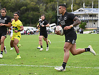 22nd May 2021; Grammar Tec, Auckland New Zealand; All Blacks Sevens versus Australia, Trans-Tasman Sevens;  Etene Nanai-Seturo.