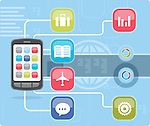 Illustrative image of mobile applications