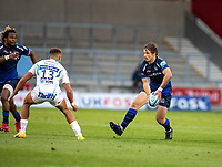 21st August 2020; AJ Bell Stadium, Salford, Lancashire, England; English Premiership Rugby, Sale Sharks versus Exeter Chiefs;  AJ MacGinty of Sale Sharks came on in the second half to relpace Rob du Preez of Sale Sharks