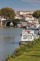 France, Aude (11), Castelnaudary:  le Canal du Midi , patrimoine de l'humanité de l'UNESCO //France, Aude, Castelnaudary:    Canal du Midi , World Heritage Site by UNESCO