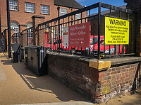 The main post office delivery department in High Wycombe town centre during Easter bank holiday Monday during the Covid-19 Pandemic as the UK Government advice to maintain social distancing and minimise time outside in High Wycombe on 13 April 2020. Photo by PRiME Media Images.