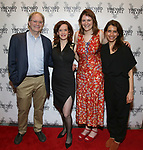 """Douglas Aibel, Margot Bordelon, Mara Nelson-Greenberg and Sarah Stern attending the Opening Night Afterparty for The Vineyard Theatre production of  """"Do You Feel Anger?"""" at the Vineyard Theatre on April 2, 2019 in New York City."""