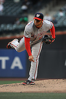 Washington Nationals pitcher Henry Rodriguez #63 during a game against the New York Mets at Citi Field on September 15, 2011 in Queens, NY.  Nationals defeated Mets11-1.  Tomasso DeRosa/Four Seam Images