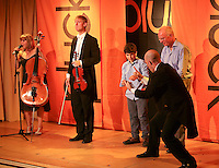 """""""Pluck"""" body theatre with music include some audience participation, Leconfield Hall, Petworth Festival, West Sussex."""