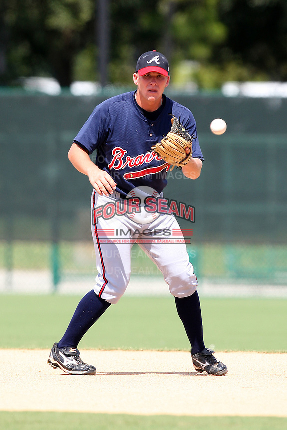 October 6, 2009:  Shortstop Jordan Kreke of the Atlanta Braves organization during an Instructional League game at Disney's Wide World of Sports in Orlando, FL.  Kreke was drafted in the 13th round of the 2009 MLB Draft.  Photo by:  Mike Janes/Four Seam Images