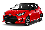 2020 Toyota Yaris Premier 5 Door Hatchback Angular Front automotive stock photos of front three quarter view
