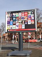 Nederland  Amsterdam 2021.  Tweede Kamerverkiezing.  Bord in Amsterdam Noord.  Foto Berlinda van Dam / HH / ANP.