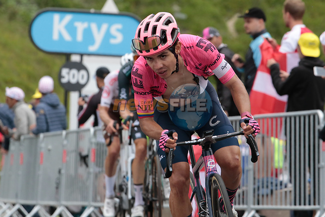 Sergio Higuita Garcia (COL) EF Education-Nippo 7th on the final climb of Luz-Ardiden during Stage 18 of the 2021 Tour de France, running 129.7km from Pau to Luz-Ardiden, France. 15th July 2021.  <br /> Picture: Colin Flockton | Cyclefile<br /> <br /> All photos usage must carry mandatory copyright credit (© Cyclefile | Colin Flockton)