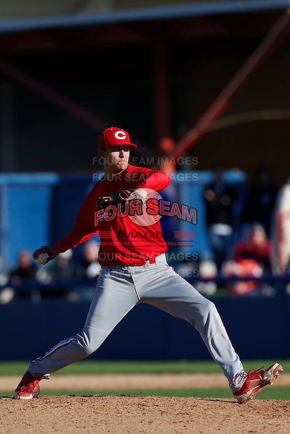 Andrew O'Brien of Corona High School in Corona, California participates in the Southern California scouts game for high school seniors at the Urban Youth Academy on February 9, 2013 in Compton, California. (Larry Goren/Four Seam Images)
