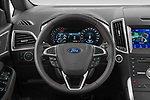 Car pictures of steering wheel view of a 2021 Ford S-Max ST-Line 5 Door Mini MPV Steering Wheel