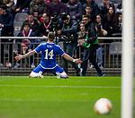 26.02.2020 SC Braga v Rangers: Ryan Kent celebrates his goal for Rangers