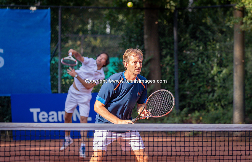 Hilversum, The Netherlands,  August 18, 2020,  Tulip Tennis Center, NKS, National Senior Championships, Men's double 35 + , Maarten Balzar<br /> Joost Siemensma (NED) <br /> Photo: www.tennisimages.com/Henk Koster
