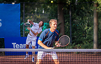 Hilversum, The Netherlands,  August 18, 2020,  Tulip Tennis Center, NKS, National Senior Championships, Men's double 35 + , Maarten Balzar<br /> Joost Siemensma (NED) <br /> Photo: www.tennisimages.com/Henk Koster