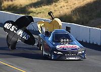 Jul 29, 2017; Sonoma, CA, USA; NHRA funny car driver Del Worsham during qualifying for the Sonoma Nationals at Sonoma Raceway. Mandatory Credit: Mark J. Rebilas-USA TODAY Sports