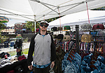 Adam Goren in the Fresh Air Clothing booth during the inaugural Bud and Brew Music Festival in Wingfield Park in downtown Reno on Saturday, Sept. 23, 2017.