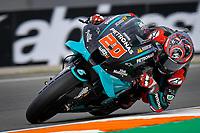 13th November 2020, Circuit Ricardo Tormo, Valencia, Spain;  MotoGP, Grand Prix of Valencia, free practise sessions;  20 Fabio Quartararo