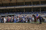 DEL MAR, CA  JULY 16: #8 Going to Vegas, ridden by Umberto Rispoli and owned in part by My Racehorse, in the winners circle after winning the third race on July 16, 2021 at Del Mar Thoroughbred Club in Del Mar, Ca. (Photo by Casey Phillips/Eclipse Sportswire/CSM)