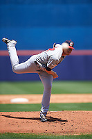 Brevard County Manatees starting pitcher Brandon Woodruff (24) delivers a pitch during a game against the St. Lucie Mets on April 17, 2016 at Tradition Field in Port St. Lucie, Florida.  Brevard County defeated St. Lucie 13-0.  (Mike Janes/Four Seam Images)
