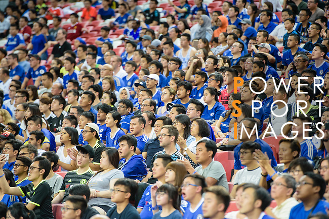 Soccer fans during the International Champions Cup 2017 match between FC Internazionale and Chelsea FC on July 29, 2017 in Singapore. Photo by Weixiang Lim / Power Sport Images