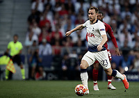 Tottenham Hotspur 's Christian Eriksen in action during the UEFA Champions League final football match between Tottenham Hotspur and Liverpool at Madrid's Wanda Metropolitano Stadium, Spain, June 1, 2019.<br /> UPDATE IMAGES PRESS/Isabella Bonotto