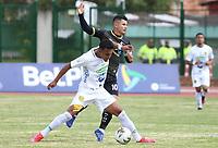 ZIPAQUIRA - COLOMBIA, 26-09-2020: Llaneros F.C. y Leones F.C. en partido por la fecha 9 de la Torneo BetPlay DIMAYOR 2020 jugado en el estadio Hector El Zipa Gonzalez de Zipaquirá. / Llaneros F.C. and Leones F.C. in match for the date 9 of the BetPlay DIMAYOR 2020 tournament played at Hector El Zipa Gonzalez stadium in Zipaquira. Photo: VizzorImage / Daniel Garzon / Cont