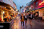 Denmark, Jutland, Aalborg: Bars along Jumfru Ane Gade | Daenemark, Juetland, Aalborg: Bars in der Jumfru Ane Gade