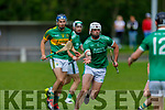 Ballyduff's Eoin Ross in action against Lixnaw in the North Kerry Senior Hurling Championship.