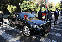 Pictured: The official cavalcade outside the Presidential Mansion <br /> Re: Turkey's president Recep Tayyip Erdogan has begun a landmark visit to Greece. Thursday 07 December 2017