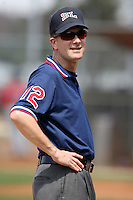 March 16th 2008:  An unidentified MiLB Umpire during Spring Training at Osceola County Complex in Kissimmee, FL.  Photo by:  Mike Janes/Four Seam Images