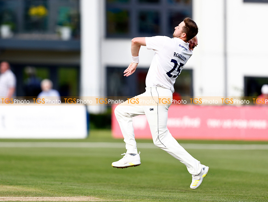 Ollie Robinson bowls for Sussex during Kent CCC vs Sussex CCC, LV Insurance County Championship Group 3 Cricket at The Spitfire Ground on 11th July 2021
