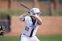 Zach Vandergrift (22) of the High Point Panthers at bat against the NJIT Highlanders during game one of a double-header at Williard Stadium on February 18, 2017 in High Point, North Carolina.  The Panthers defeated the Highlanders 11-0.  (Brian Westerholt/Four Seam Images)