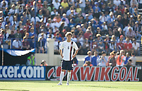 Michael Bradley readies to play. The USA defeated China, 4-1, in an international friendly at Spartan Stadium, San Jose, CA on June 2, 2007.